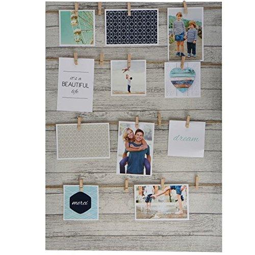 XXL Fotorahmen mit Schn�ren und Holzklammern 50 x 70 cm - Fotowand