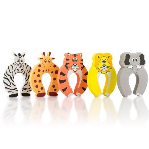 SmileBaby T�rstopper Finger Klemmschutz T�rstop Safari 5 St�ck