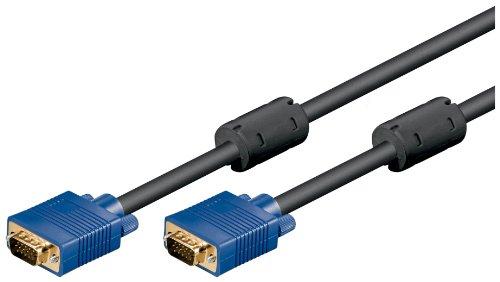 Wentronic Monitorkabel (15-polig HD Stecker auf 15-polig HD Stecker, XGA, SVGA) 1,8m schwarz