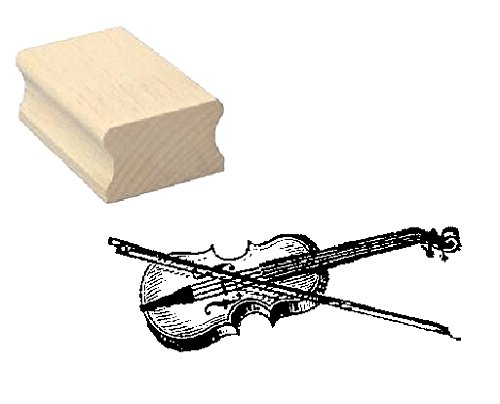 Stempel Holzstempel Motivstempel � VIOLINE � Scrapbooking - Embossing Geige Komponist Musiker Streichinstrument Musik