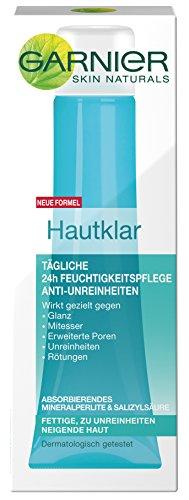 Garnier Hautklar 24h Feuchtigkeitspflege Gesicht Anti-Unreinheiten / Gesichtscreme f�r fettige + zu Unreinheiten neigende Haut, 3er Pack - 3 x 40 ml