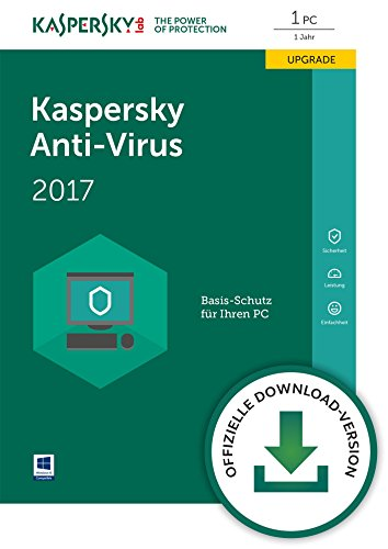 Kaspersky Anti-Virus 2017 1 PC Upgrade [PC Download]