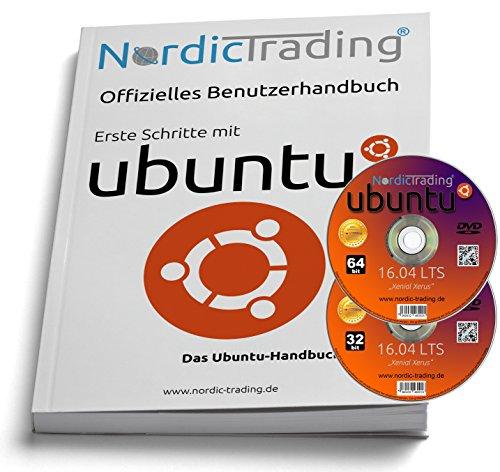 Ubuntu 16.04 LTS 32+64bit (2 DVDs!) incl. gedrucktem Handbuch