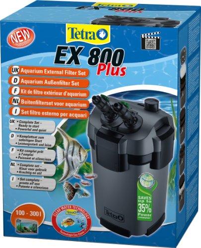 Tetra Aquarien Au�enfilter EX 800 Plus (leistungstarker Filter f�r Aquarien von 100-300 L, Komplettset mit Ansaughilfe zum Schnellstart und Filtermedien)