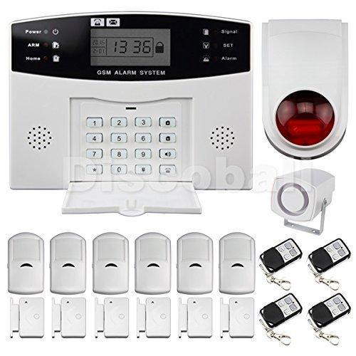 Discoball Haus Alarmanlage Funk Alarmsystem GSM SMS Bewegungsmelder Telefon Sicherheit Set