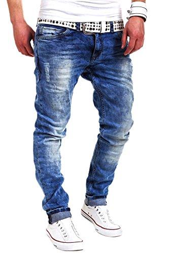 MT Styles Jeans Slim Fit RJ-2001 [Blau, W30/L32]