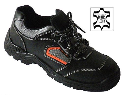 Arbeitsschuhe Sicherheitsschuhe Schuhe schwarz echt Leder LC052 S3 NEU (38 39 40 41 42 43 44 45 46 47) Gr. 42