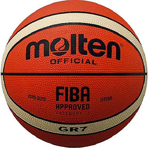 molten Basketball, Orange/Ivory, 7, BGR7-OI