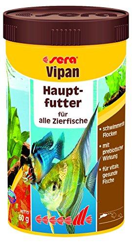 sera 00150 vipan 250 ml - der Klassiker - Hauptfutter f�r alle Zierfische in Gesellschaftsaquarien, Flockenfutter, f�r sch�nere und gr��ere Fische