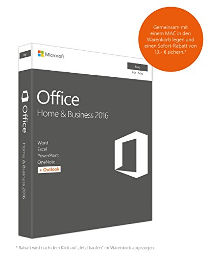 Microsoft Office Mac Home Business 2016 (Product Key Card ohne Datentr�ger)