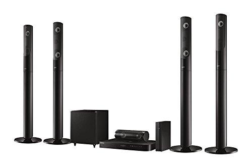 Samsung HT-J5550W 5.1 3D Blu-ray Heimkinosystem (1000W, kabellose R�cklautsprecher, WLAN, Bluetooth, FM Tuner) schwarz