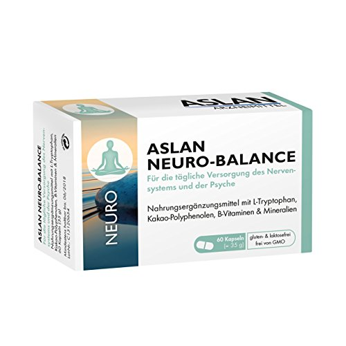 ASLAN Neuro-Balance, 60 Kapseln - L-Tryptophan Vitamin B-Komplex Nervensystem Psyche Wohlbefinden Gehirn Neurotransmitter�-Gleichgewicht