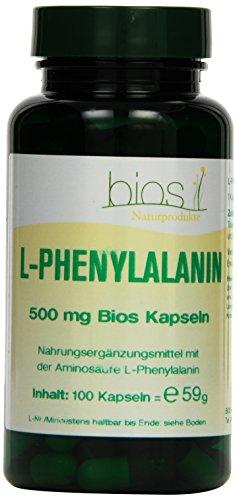 Bios L-Phenylalanin 500 mg, 100 Kapseln, 1er Pack (1 x 59 g)