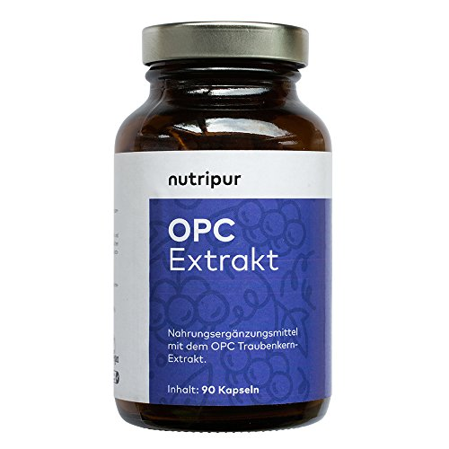 Nutripur OPC Traubenkernextrakt Kapseln - 90 vegane Kapseln aus Traubenkern-Extrakt, ohne k�nstliche Zus�tze