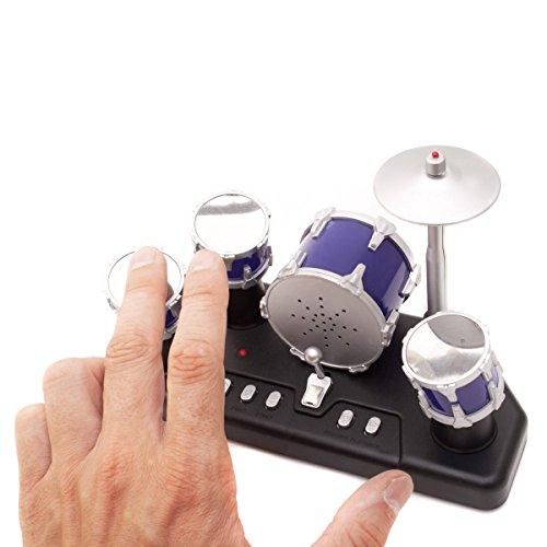 Elektrisches Mini Schlagzeug - Elektronische Micro Finger-Drums mit Aufnahmefunktion