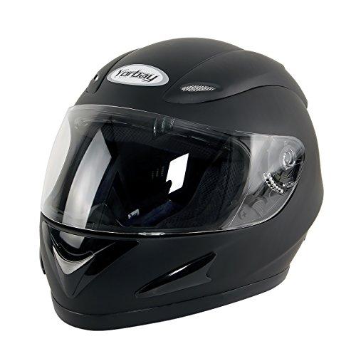 Yorbay Motorradhelm Integralhelm Sturzhelm Helm mit verschienden Typen & in unterschiedlichen Gr��en (Schwarz matt, XL)