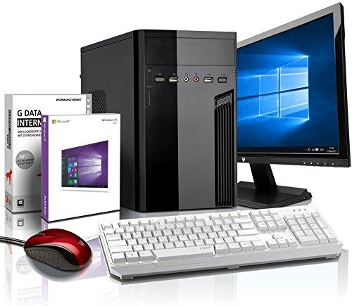 Komplett Fl�ster-PC Paket Intel Quad-Core Office/Multimedia shinobee Computer mit 3 Jahren Garantie! inkl. Windows10 Professional - INTEL Quad Core 4x2.41 GHz, 4GB RAM, 320GB HDD, Intel HD Graphics, USB 3.0, HDMI, VGA, Office, 19-Zoll LED TFT Monitor, Lautsprecher, Tastatur+Maus #5139
