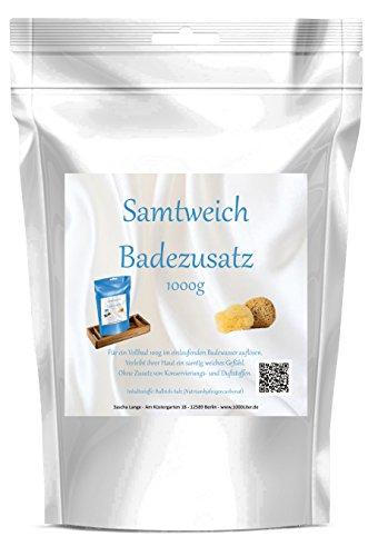 1000 g Samtweich Badezusatz Badesalz f�r samtweiche Haut Spa Entspannung white Pouch