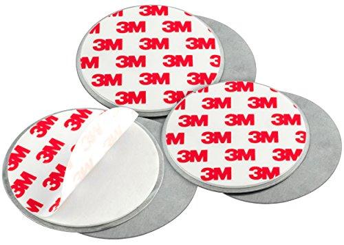 mumbi 3-er Set Magnetbefestigung f�r Rauchmelder und glatte Fl�chen nicht f�r Rauhfaser oder losen Putz