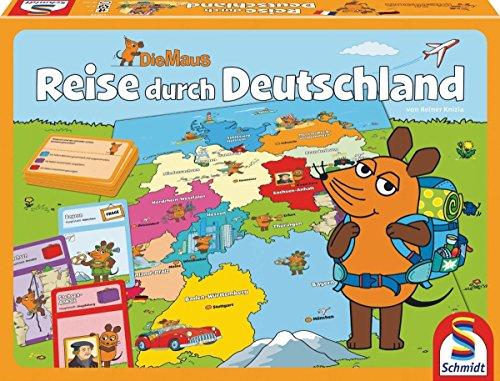 Schmidt Spiele 40569 - Die Maus: Reise durch Deutschland, Quizspiel