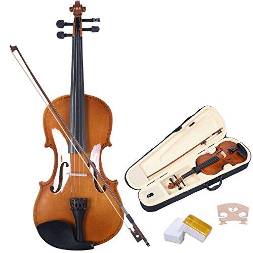 Violinen Geigen Set 4/4 Koffer + Bogen + Zubeh�r Kolofonium aus Holz f�r Anf�nger Braun