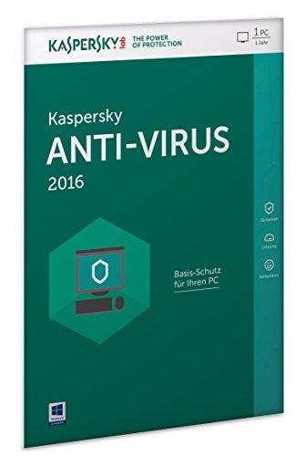 Kaspersky Anti-Virus 2016 - 1 PC / 1 Jahr (Frustfreie Verpackung)