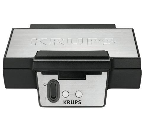 Krups FDK 251 Waffeleisen, 850 Watt f�r Belgische Waffeln, schwarz - edelstahl