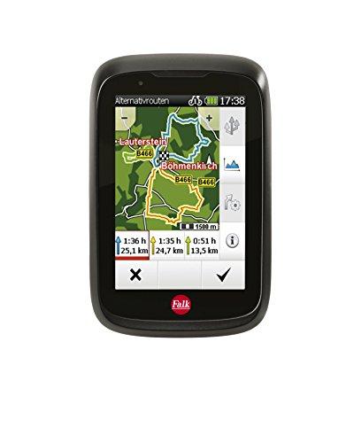 Falk Fahrrad GPS-Navigationsger�t Tiger Geo, kapazitiver Touchscreen, 25 L�nder, integrierte Fahrradhalterung, schwarz/rot, 240035