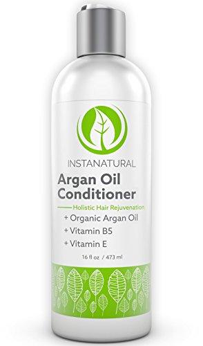 InstaNatural Arganoel Pflegespuelung - 473ml - F�r weiches, seidiges und gesundes Haar - Luxuri�se N�hrstoffe um trockene Kopfhaut zu hydrieren - 100% zertifiziertes organisches Marokkanisches Arganoel und Vitamin B5