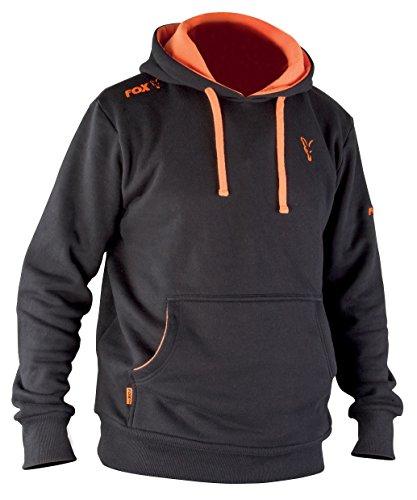 Fox Hoodie Black / Orange Kapuzenpullover, Gr��e:L