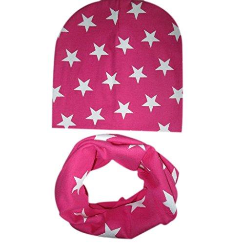 Babybekleidung Schals Longra Baby M�tze Schal jungen M�dchen Kleinkinder Schal Kind Schal H�te M�tzen (Hot Pink)