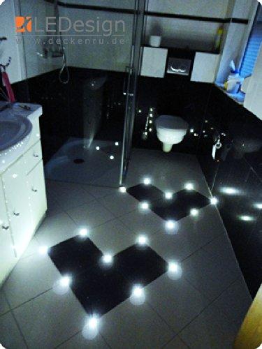 12x Fliesen LED 3mm Fuge Licht Beleuchtung inkl. Trafo Fugenlicht Kreuz Fliesenlicht (gr�n) (wei� (kalt-wei�))