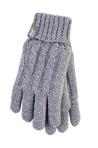 Heat Holders - Damen Thermisch Winter Handschuhe in 7 Farben (S/M, Grau)