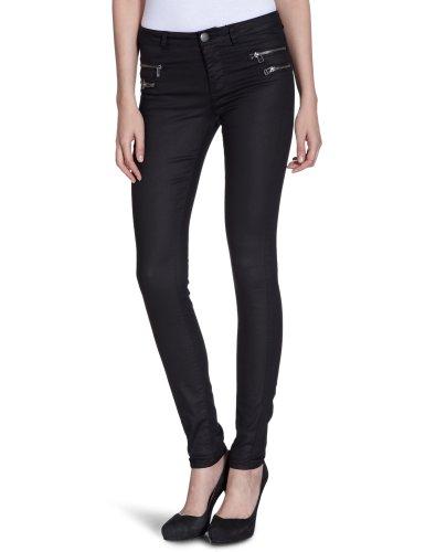 ONLY Damen Hose, 15069823 Olivia Regular Zip Legging, Gr. 38 (M), Schwarz (BLACK)