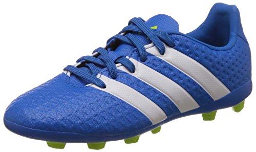 adidas Unisex-Kinder Ace 16.4 Fxg J Fu�ballschuhe, Blau (Shock Blue/Ftwr White/Semi Solar Slime), 38 EU
