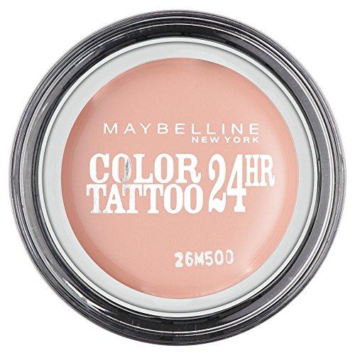 Maybelline New York Lidschatten Eyestudio Color Tattoo 24h Creme de rose 91 / Gel-Cream Eyeshadow Rosa matt, langanhaltend, 1 x 4 g