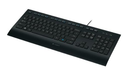 LOGITECH K280e corded Keyboard USB black for Business, QWERTZ,  deutsches Layout