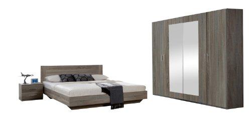 Wimex 749323 Schlafzimmer Set bestehend aus Bett 180 x 200 cm, Nachtschrankpaar je zwei Schubk�sten und Kleiderschrank 4-t�rig 225 x 210 x 58 cm